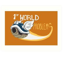 1st World Problems Orange Art Print