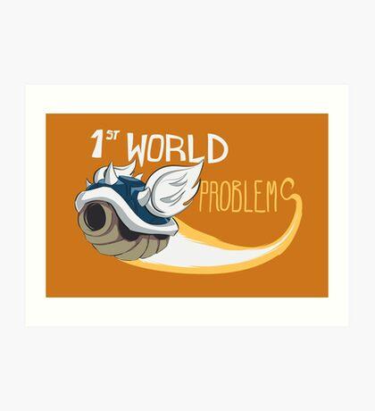 1st World Problems Orange Art Print