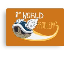 1st World Problems Orange Canvas Print