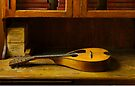 Mandolin on Desk by Robert Meyer