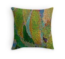 Crackled Conebush Throw Pillow