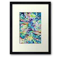 Parts of Reality Were Missing, But Which Parts? - Watercolor Painting Framed Print