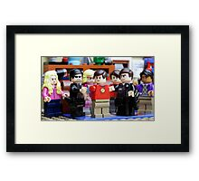 LEGO Big Bang Theory - Sheldon arrested Framed Print