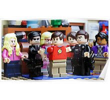 LEGO Big Bang Theory - Sheldon arrested Poster