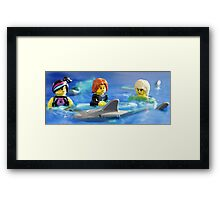 Stay calm.  He will only eat one of us! Framed Print