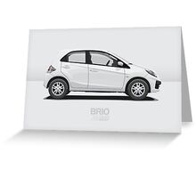 White Brio  Greeting Card