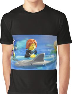Stay calm.  He will only eat one of us! Graphic T-Shirt