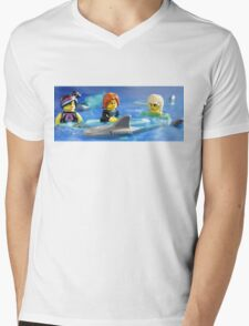 Stay calm.  He will only eat one of us! Mens V-Neck T-Shirt
