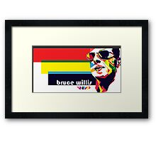bruce willis wpap Framed Print