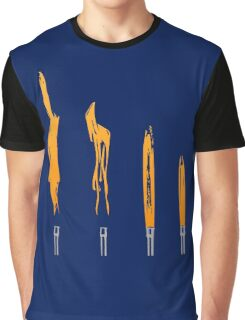 Flames of Science (Bunsen Burner Set) - Orange Graphic T-Shirt