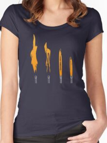 Flames of Science (Bunsen Burner Set) - Orange Women's Fitted Scoop T-Shirt
