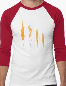 Flames of Science (Bunsen Burner Set) - Orange Men's Baseball ¾ T-Shirt