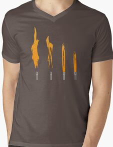 Flames of Science (Bunsen Burner Set) - Orange Mens V-Neck T-Shirt