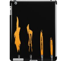 Flames of Science (Bunsen Burner Set) - Orange iPad Case/Skin
