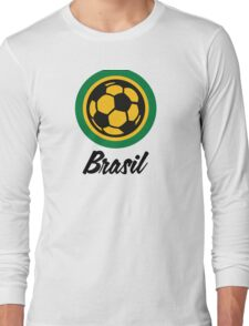 Football coat of arms of Brazil Long Sleeve T-Shirt