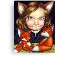 Fox Clan Canvas Print