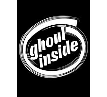 GHOUL INSIDE - solid white Photographic Print