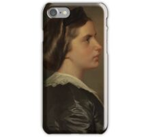 FRANZ XAVER WINTERHALTER -Portrait of a Young Woman in Profile, circa  iPhone Case/Skin
