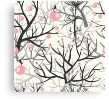 apples berries branch seamless ornament Canvas Print