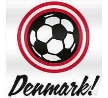 Football coat of arms of Denmark Poster