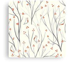 berries branch seamless ornament Canvas Print