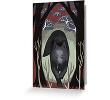Wolf Tarot Card Greeting Card