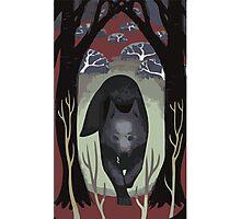 Wolf Tarot Card Photographic Print