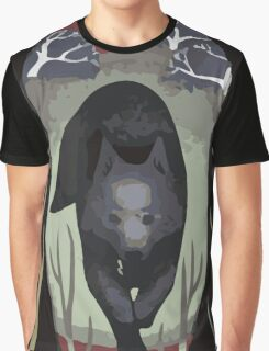 Wolf Tarot Card Graphic T-Shirt
