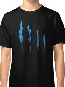 Flames of Science (Bunsen Burner Set) - Blue Classic T-Shirt