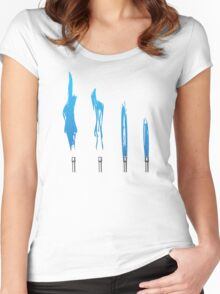 Flames of Science (Bunsen Burner Set) - Blue Women's Fitted Scoop T-Shirt