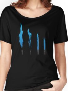 Flames of Science (Bunsen Burner Set) - Blue Women's Relaxed Fit T-Shirt
