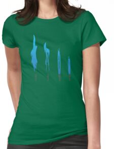 Flames of Science (Bunsen Burner Set) - Blue Womens Fitted T-Shirt