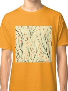 Vector seamless pattern.Stylish texture. Endless floral background. berries branch seamless ornament Classic T-Shirt