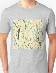 Vector seamless pattern.Stylish texture. Endless floral background. berries branch seamless ornament T-Shirt