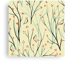 Vector seamless pattern.Stylish texture. Endless floral background. berries branch seamless ornament Canvas Print