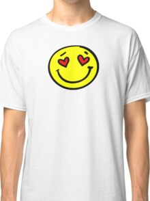 love heart smiley face Classic T-Shirt