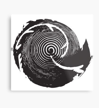 The Twilight Zone : BW // DJ Metal Print