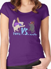 Purza v.s. Mewshra Women's Fitted Scoop T-Shirt