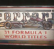 Ferrari 458 Matricolo Sticker