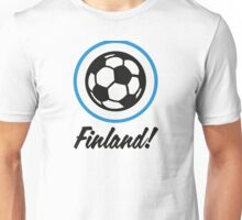 Football coat of arms of Finland Unisex T-Shirt