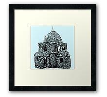 Willow Hut Framed Print