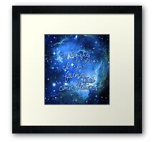 My Thoughts are Stars I Can't Fathom Into Constellations TFIOS Framed Print