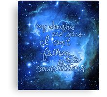 My Thoughts are Stars I Can't Fathom Into Constellations TFIOS Canvas Print