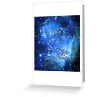 My Thoughts are Stars I Can't Fathom Into Constellations TFIOS Greeting Card