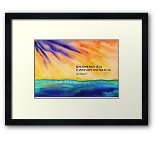 God's Love Framed Print