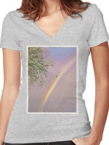 Dove Marriage  Women's Fitted V-Neck T-Shirt