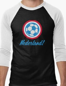 Football emblem of Netherlands Men's Baseball ¾ T-Shirt