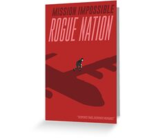 Mission Impossible Rogue Nation Greeting Card