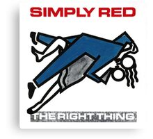 The Right Thing Simply Red by bas Canvas Print
