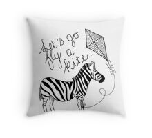 Marry Poppins - Let's Go Fly a Kite Throw Pillow